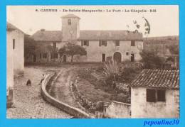 CANNES (Alpes Maritimes) ILE SAINTE-MARGUERITE, LE FORT, LA CHAPELLE. - 1930 -  // ANIMÉE - Cannes