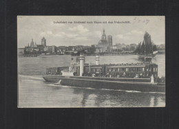 AK Überfahrt Von Stralsund Nach Rügen Mit Den Trajectschiff 1907 - Treinen