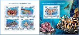 mld14303ab Maldives 2014 Crustaceans 2 s/s