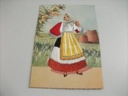 Costume Donna Con Filo In Rilievo Sardegna Sennori Sassari - Costumi