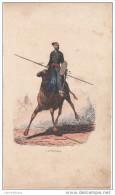 GRAVURE ORIENTALISTE De CHARLES THEODORE FRERE (1814-1888) - LE TOUAREG - Estampes & Gravures
