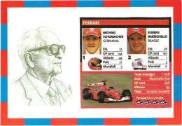 [DC0464] CARTOLINEA - EQUIPE FERRARI - SCHUMACHER - BARRICHELLO - FORMULA 1 - Grand Prix / F1