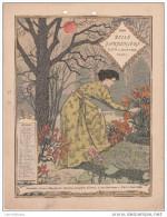 CALENDRIER BELLE JARDINIERE 1898 / NOVEMBRE - FORMAT 18X24 - Formato Grande : ...-1900