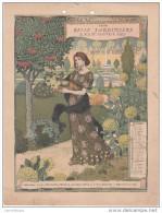 CALENDRIER BELLE JARDINIERE 1898 / SEPTEMBRE - FORMAT 18X24 - Formato Grande : ...-1900