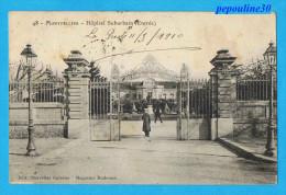 MONTPELLIER (Hérault) HÔPITAL CIVIL ET MILITAIRE SUBURBAIN (Entrée) - 1910 -  // ANIMÉE - Montpellier