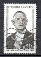 FRANCE. N°1698 Oblitéré De 1971. De Gaulle. - De Gaulle (General)