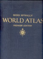 RAND MCNALLY WORLD ATLAS PREMIER EDITION  1944 TBE RARE - Books, Magazines, Comics