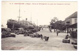 Cochonchine - Saigon - Navire En Déchargement - Viêt-Nam