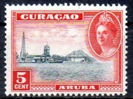 CURACAO 1942 Aruba -  5c. - Black And Red  MH - Curaçao, Nederlandse Antillen, Aruba