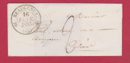 Enveloppe  // De Beaugency  //  Pour Orléans    //   16 Février 1835 - Storia Postale
