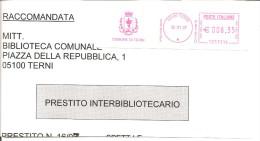 ITALIA - 2007 Comuni D'Italia:TERNI - Stemma: DRAGO - Marcofilia - EMA ( Maquina De Huellas A Franquear)