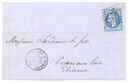 YV N° 29B.Obl Losange GC 3452 Soultz-sous-Forêts Pour Vrigne-aux-bois 26-11-1869 - 1849-1876: Période Classique