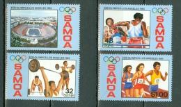 Samoa 1984 Mi 545/48** MNH Olympics Los Angeles 4 Val. - Samoa