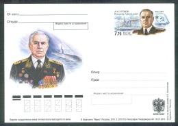 RUSSIA 2010 ENTIER POSTCARD 153 Mint KASATONOV ADMIRAL NAVY NAVAL SHIP BATEAU SUBMARINE SOUS-MARIN U BOOT AWARD ORDEN - 1992-.... Federatie