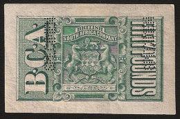 NYASALAND 1891 REVENUE BCA £50 GREEN IMPERFORATE PROOF - Nyassaland (1907-1953)