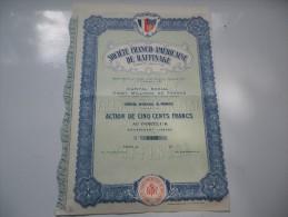 FRANCO-AMERICAINE DE RAFFINAGE (1929) - Unclassified