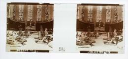 Photo Plaque De Verre / Vue Stéréo / WW1 Guerre 14/18 / Marne En 1914 - Eglise Occupée - Diapositiva Su Vetro