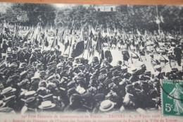 CPA Troyes Juin 1908 Remise Du Drapeau Aux Sociétés De Gymnastique De France Ville De Troyes - Troyes