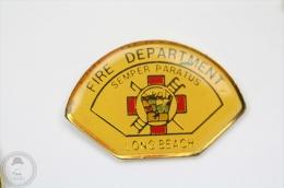 Semper Paratus - Long Beach Fire Department - Fireman/ Firefighter - Pin Badge #PLS - Bomberos
