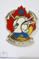 Bruxelles - Brussel Fire Department - Fireman/ Firefighter - Pin Badge #PLS - Bomberos
