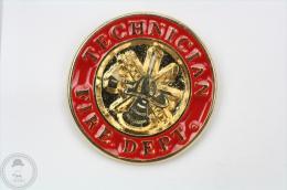 Technician Fire Department - Fireman/ Firefighter - Pin Badge #PLS - Bomberos