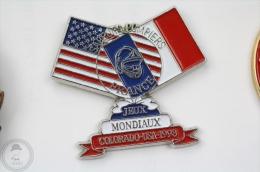 Sapeurs Pompiers France, Jeux Mondiaux Colorado USA 1993 - Fireman/ Firefigter - Pin Badge #PLS - Bomberos
