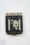 Sapeurs Pompiers France, Chevry - 1993 Sauver Ou Perir - Fireman/ Firefigter - Pin Badge #PLS - Bomberos