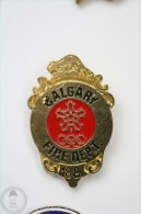 Calgary Fire Department - Olympic Games 1988  - Fireman/ Firefigter - Pin Badge #PLS - Bomberos