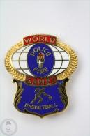 World Police & Fire Games - Basketball - Pin Badge #PLS - Firemen