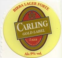 P-BIRRA CARLING-GOLD LABEL-ADESIVO DA SPILLATRICE - Uithangborden
