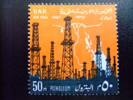 EGIPTO - EGYPTE - EGYPT - UAR - 1967 - Yvert Nº PA 107 ** MNH - PETROLEUM  - 15 ANIVERSARIO DE LA REVOLUCION - Poste Aérienne