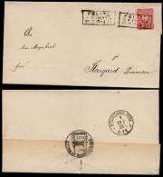 DR 1885 Nr. 41 Brief R3 Pölitz OPD Stettin > Stargard - Germany