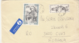 STAMPS ON COVER, NICE FRANKING, PERSONALITIES, 1997, POLAND - Briefe U. Dokumente