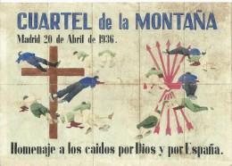 401-*SPAIN CIVIL WAR*10 UNCUT COUPONS*GUERRA CIVIL ESPA�OLA*ARANDA DE DUERO, BURGOS*CUARTEL DE LA MONTA�A*