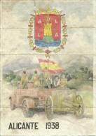 402-*SPAIN CIVIL WAR*10 UNCUT COUPONS*GUERRA CIVIL ESPA�OLA*ALICANTE*1938*NA CIONALISTA*