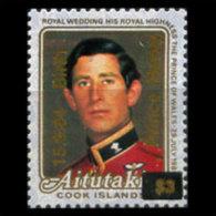 AITUTAKI 1984 - Scott# 355 Royal Birth Opt. Set Of 1 MNH (XJ629) - Aitutaki