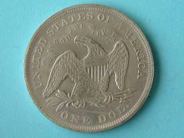 1871 US DOLLAR - VALS / FAUX / FAKE ( +/- 17 Gr. / For Grade, Please See Photo ) ! - Monnaies