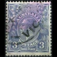 AUSTRALIA 1924 - Scott# 30 King 3p Used (XB812) - 1913-36 George V: Heads