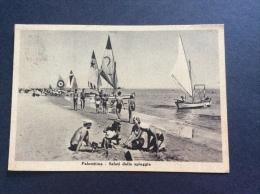 PALOMBINA - Saluti Dalla Spiaggia, Animata - Cartolina FG V 1941 - Italia