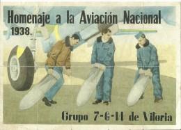 412-*SPAIN CIVIL WAR*10 UNCUT COUPONS*GUERRA CIVIL ESPA�OLA*BARRUNDIA, �LAVA*NATIONAL AVIATION*