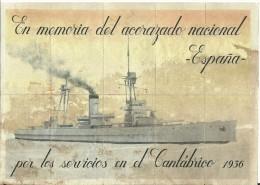 413-*SPAIN CIVIL WAR*10 UNCUT COUPONS*GUERRA CIVIL ESPA�OLA*ESCOPETE, GUADALAJARA*ACORAZADO NACIONAL*1936*