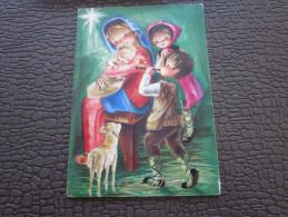 CPSM Noël Programme Invitation La Fête Les Voeux Joyeux Noël Merry Christmas>distribution Jouets-dessin Animés-Gouter - Autres