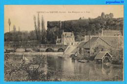 FRESNAY-sur-SARTHE (Sarthe) LES REMPARTS ET LE PONT. - 1923 - - France