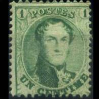 BELGIUM 1865 - Scott# 13 King Leopold I 1c No Gum (XA088) - Belgium