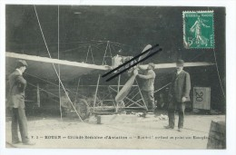 "CPA - Rouen - Grande Semaine D'Aviation - ""Hanriot"" Mettant Au Point Son Monoplace - Aviation"