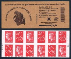 YVERT N° 1515 - CARNET COMPOSITE DATE 11 06 07 MARIANNE DE CHEFFER - LAMOUCHE N** - Commémoratifs