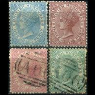 BR.HONDURAS 1972 - Scott# 4-7 Queen Set Of 4 Used (XB271) - British Honduras (...-1970)
