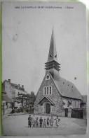 Cpa LA CHAPELLE SAINT AUBIN 72 L Eglise - Enfants - Andere Gemeenten