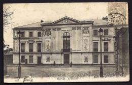 CPA ANCIENNE- FRANCE- TROYES (10)- LE THEATRE EN TRES GROS PLAN DE FACE- ANIMATION - Troyes