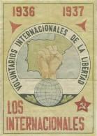 419-*SPAIN CIVIL WAR*10 VOUCHERS FOR MONEY*GUERRA CIVIL ESPA�OLA*TERUEL 1937*LOS INTERNACIONALES*